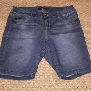 Torrid Denim Blue Bermuda Jean Shorts 20